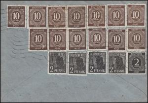 Währungsreform Zehnfachfrankatur Brief Kath. Dekanatamt ULM 23.6.48 nach Bonn