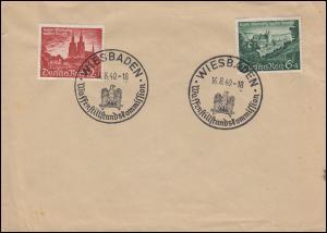 748-749 Satz auf Umschlag SSt WIESBADEN Waffenstillstandskommission 16.8.40
