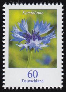 3468 Blume Kornblume, nassklebend, ** postfrisch