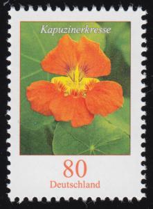 3469 Blume Kapuzinerkresse, nassklebend, ** postfrisch