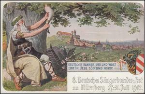 VIII. Deutsches Sängerbundfest Nürnberg 29.7.12, AK Der Trinkspruch, EF 77III