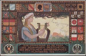 VIII. Deutsches Sängerbundfest Nürnberg 20.7.12, Mädchen mit Harfe auf PP 27