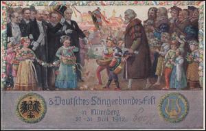 VIII. Deutsches Sängerbundfest Nürnberg 30.7.12, Der feierliche Umzug auf PP 27