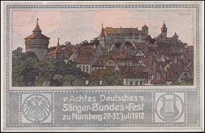 VIII. Deutsches Sängerbundfest Nürnberg 29.7.12, Nürnberger Burg auf PP 27