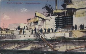 DEUTSCHE MARINE-SCHIFFSPOST No 49 - 17.9.1917 SMS Friedrich der Große auf AK