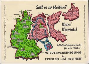 Propaganda: WIEDERVEREINIUNG in FRIEDEN und FREIHEIT, Nürnberg 23.9.1962