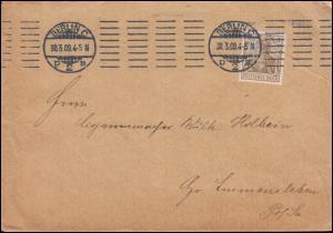 84I Germania 3 Pf. mit Perfin Gm. als EF auf Drucksache BERLIN 30.3.1909