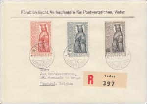 Liechtenstein 329-331 Abschluss des Marianischen Jahres auf R-FDC VADUZ 16.12.54