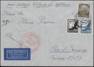 Deutsche Luftpost Europa-Südamerika Bf. DRESDEN-BLASEWITZ 6.12.38