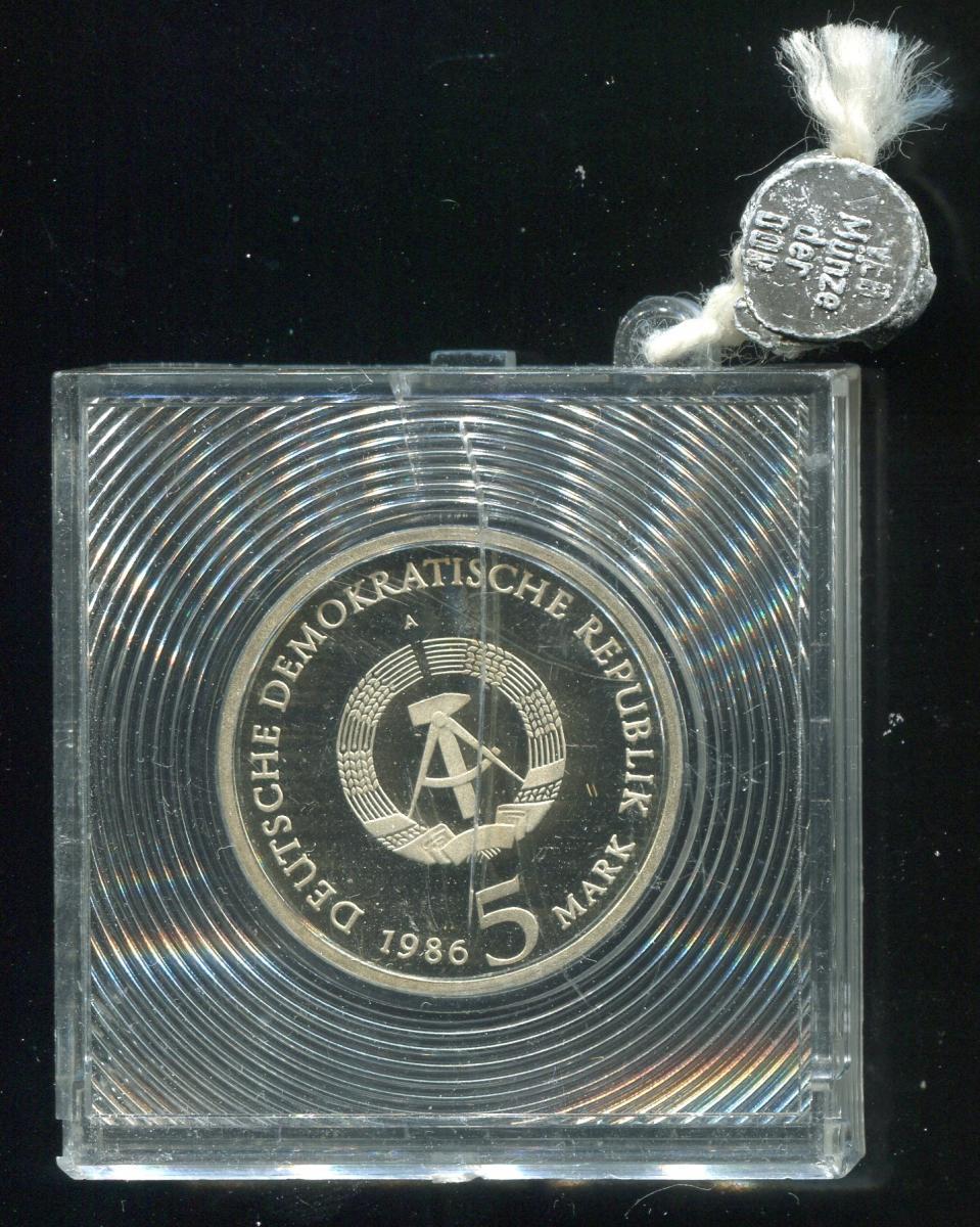 DDR Gedenkmünze Sanssouci Potsdam, 1986, Spiegelglanz PP in verplombter Kapsel 1