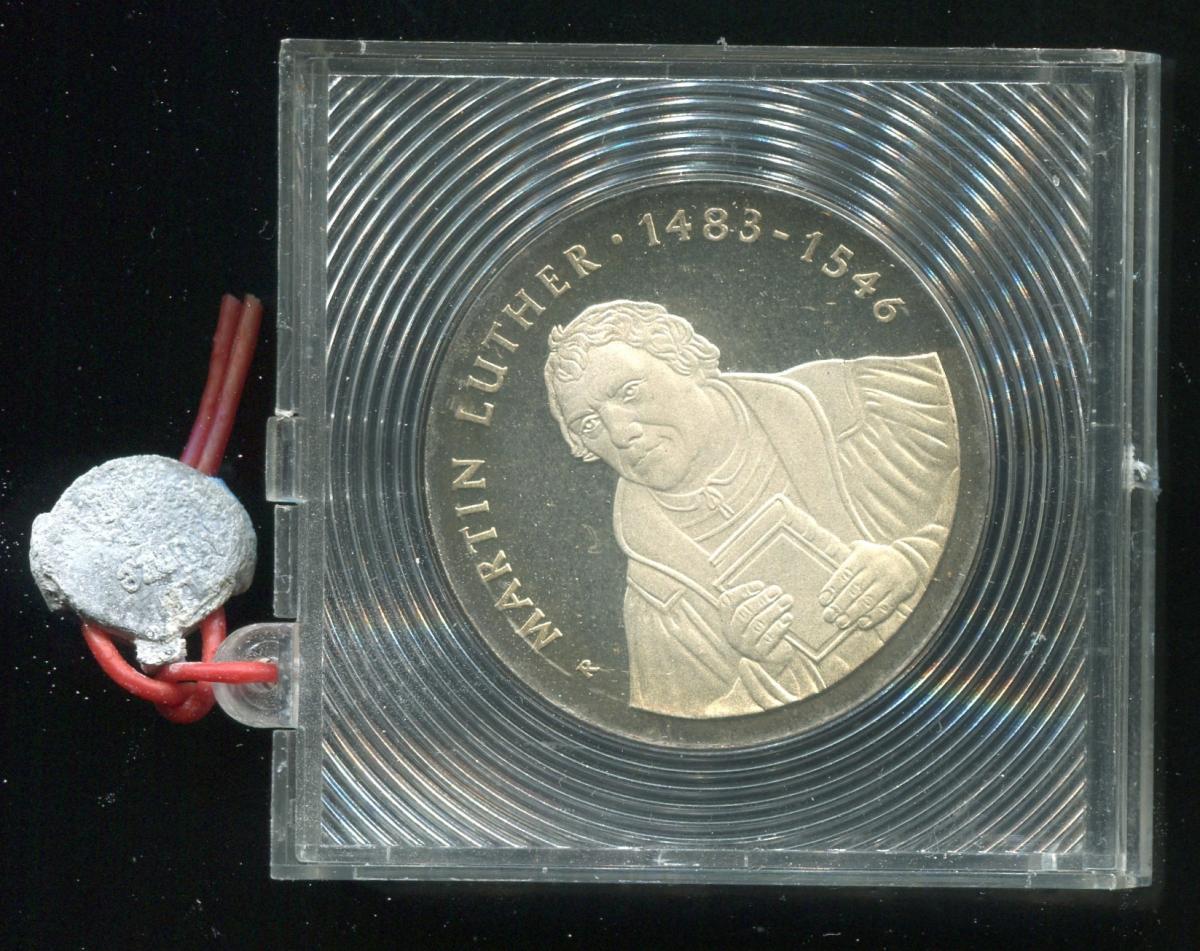 DDR Gedenkmünze 20 Mark Luther, 1983, Spiegelglanz PP in verplombter Kapsel 0