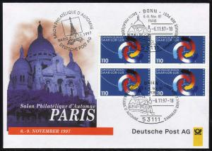 Ausstellungsbeleg Nr. 25 SALON PHILATELIQUE Paris 1997