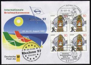 Ausstellungsbeleg Nr. 24 RICCOIONE Riccione 1997