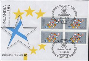 Ausstellungsbeleg Nr. 6 FINLANDIA 1995 ohne Cachet-O