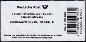 3482 Kapuzinerkresse Banderole / Aufkleber für 4 Markenboxen 100x80, 1440 02002