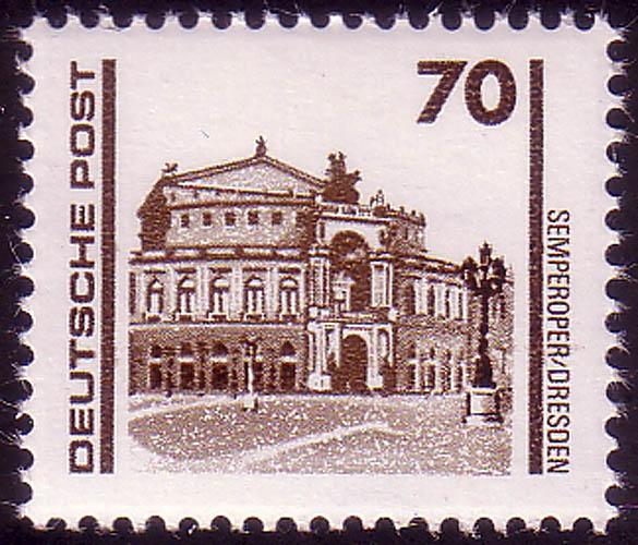 3348 Bauwerke und Denkmäler 70 Pf Semperoper ** 0