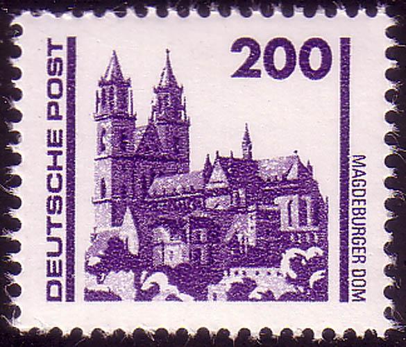 3351 Bauwerke und Denkmäler 200 Pf Dom Magdeburg ** 0