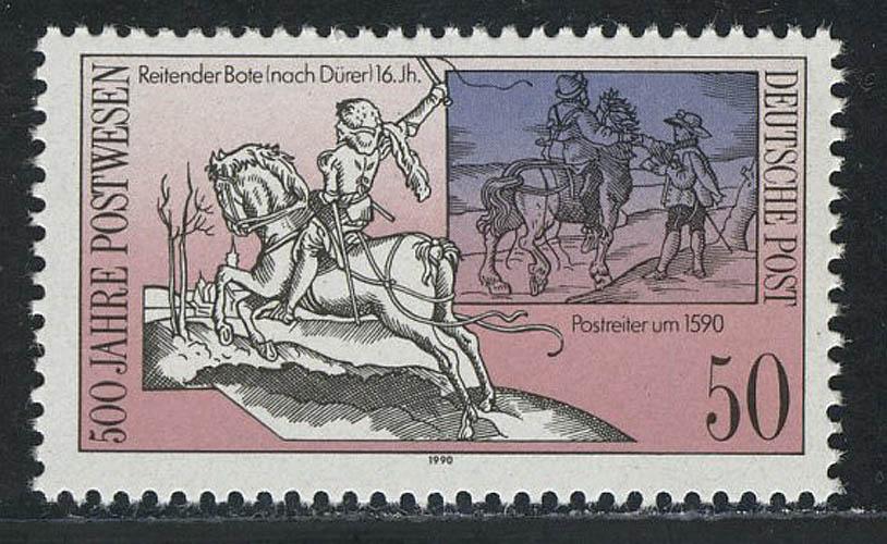3355 Postverbindungen in Europa 50 Pf Postreiter ** 0