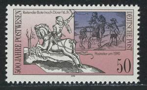 3355 Postverbindungen in Europa 50 Pf Postreiter **