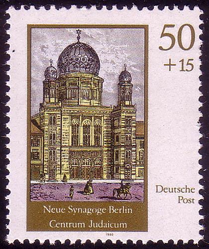 3359 Neue Synagoge Berlin 50+15 Pf ** 0