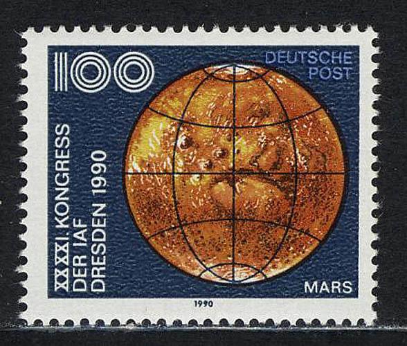 3363 Astronautische Föderation 100 Pf Mars** 0