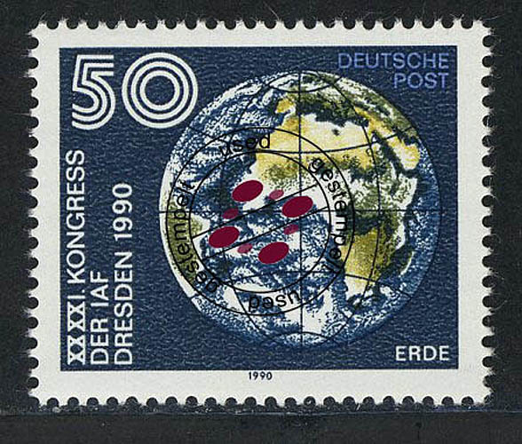 3361 Astronautische Föderation 50 Pf Erde O 0