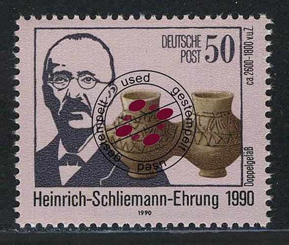 3365 Heinrich Schliemann 50 Pf O 0