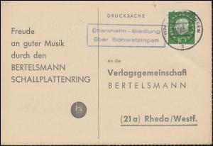 Landpost Oftersheim-Siedlung über SCHWETZINGEN 3.12.60 auf Postkarte nach Rheda