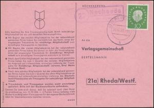 Landpost Neuheede über PAPENBURG 31.10.60 auf Postkarte nach Rheda