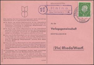 Landpost Haine über FRANKENBERG (EDER) 11.10.1960 auf Postkarte nach Rheda
