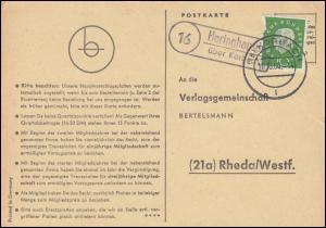 Landpost Heringhausen über KORBACH 10.10.1960 auf Postkarte nach Rheda