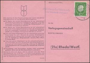 Landpost Vorderschellenbach über KRUMBACH 8.10.1960 auf Postkarte nach Rheda