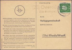 Landpost Osterode über BRAMSCHE 21.10.1960 auf Postkarte nach Rheda/Westf.