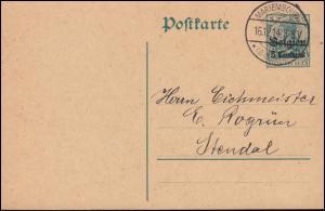 Belgien Postkarte P 1 von MARIEMBOURG (BELGIEN) 16.12.1914 nach Stendal