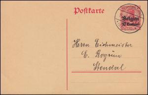 Belgien Postkarte P 2 von MARIEMBOURG (BELGIEN) 16.12.14 nach Stendal