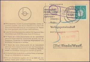 Landpost Luttern über CELLE 10.10.1960 auf Postkarte nach Rheda/Westf.