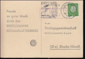 Landpost Uelde über LIPPSTADT 4.10.1960 auf Postkarte nach Rheda/Westf.