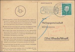 Landpost Philippsreuth über PASSAU 6.10.1960 auf Postkarte nach Rheda/Westf.