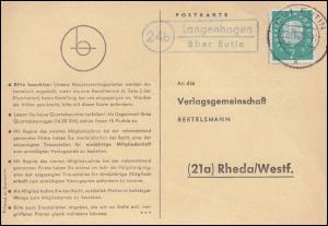 Landpost Langenhagen über EUTIN 22.11.1960 auf Postkarte nach Rheda/Westf.