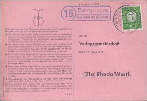 Landpost Bergheim über STOCKHEIM (OBERHESSEN) 1.11.1960 auf Postkarte nach Rheda