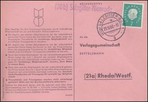 Landpost Salzgitter-Nienrode auf Postkarte SALZGITTER-BAD 29.10.1960 nach Rheda