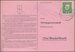 Landpost Schienen über Singen (Hohentwiehl) auf Postkarte RUDOLFZELL 12.10.1960
