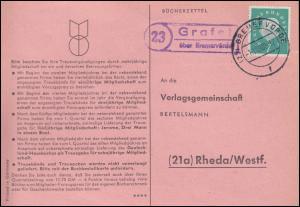 Landpost Grafel über BREMERVÖRDE 1.11.1960 auf Postkarte nach Rheda