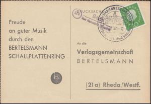 Landpost Bach über Marienberg/Westerw. auf Postkarte SSt MARIENBERG 17.11.1960