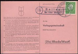 Landpost Batten über HILDERS (RHÖNGEB.) 31.10.1960 auf Postkarte nach Rheda