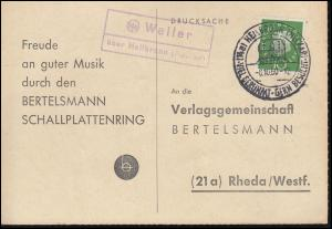 Landpost Weiler über Heilbronn (Neckar) auf Postkarte SSt HEILBRONN 8.10.1960