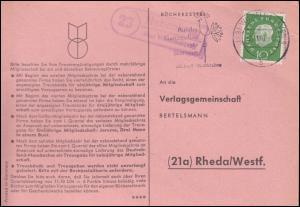 Landpost Nebenkrug über WILHELMSHAVEN 2.11.1960 auf Postkarte nach Rheda