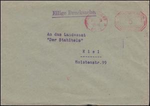 AFS Königsberg 16.11.31 - 5 Pf Drucksache an das Landesamt Der Stahlhelm in Kiel
