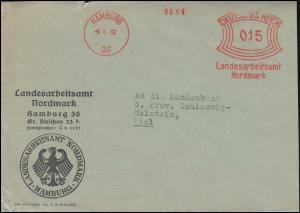 AFS Landesarbeitsamt Nordmark Hamburg 6.1.32 auf Brief an die Landesbank in Kiel