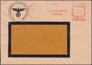 AFS Regierungspräsident Schleswig 18.4.42 mit Briefstempel Fensterbriefumschlag